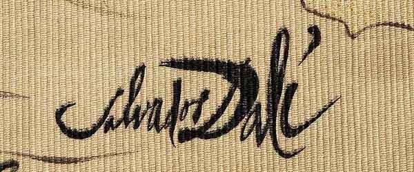 "Salvador Dali Tapestry ""Asher"" Twelve Tribes of Israel - 2"