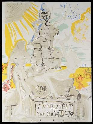 """Salvador Dali """"Monument To The Ideal Doctor"""" 1973"""