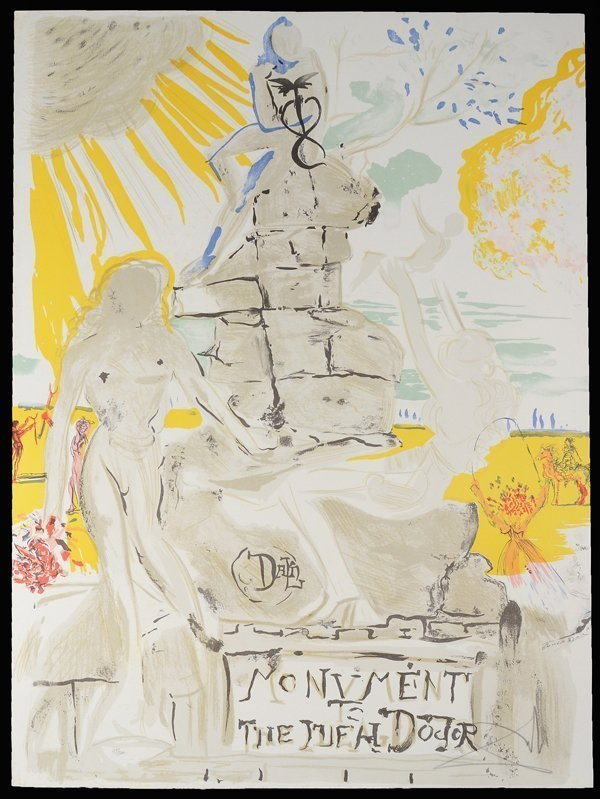 "Salvador Dali ""Monument To The Ideal Doctor"" 1973"