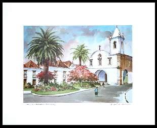 Julio Amaro Hand Signed Print Tavira Algarve Portugal