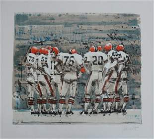 """Aldo Luongo Signed Print """"Lets Go for the Bomb"""" 1978"""