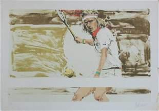 """Aldo Luongo Artist Proof Lithograph """"Bjorn Borg"""""""