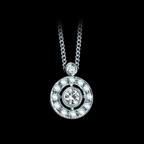 Natural 0.22 CTW Diamond Necklace in 18K White Gold