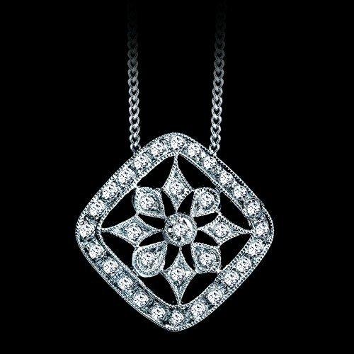 Natural 0.20 CTW Diamond Snowflake Pendant in 18K White