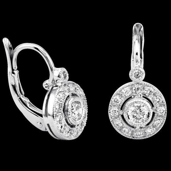 Natural 0.43 CTW Diamond Earrings in 18K White Gold