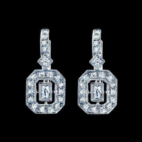 Natural 0.29 CTW Diamond Earrings in 18K White Gold