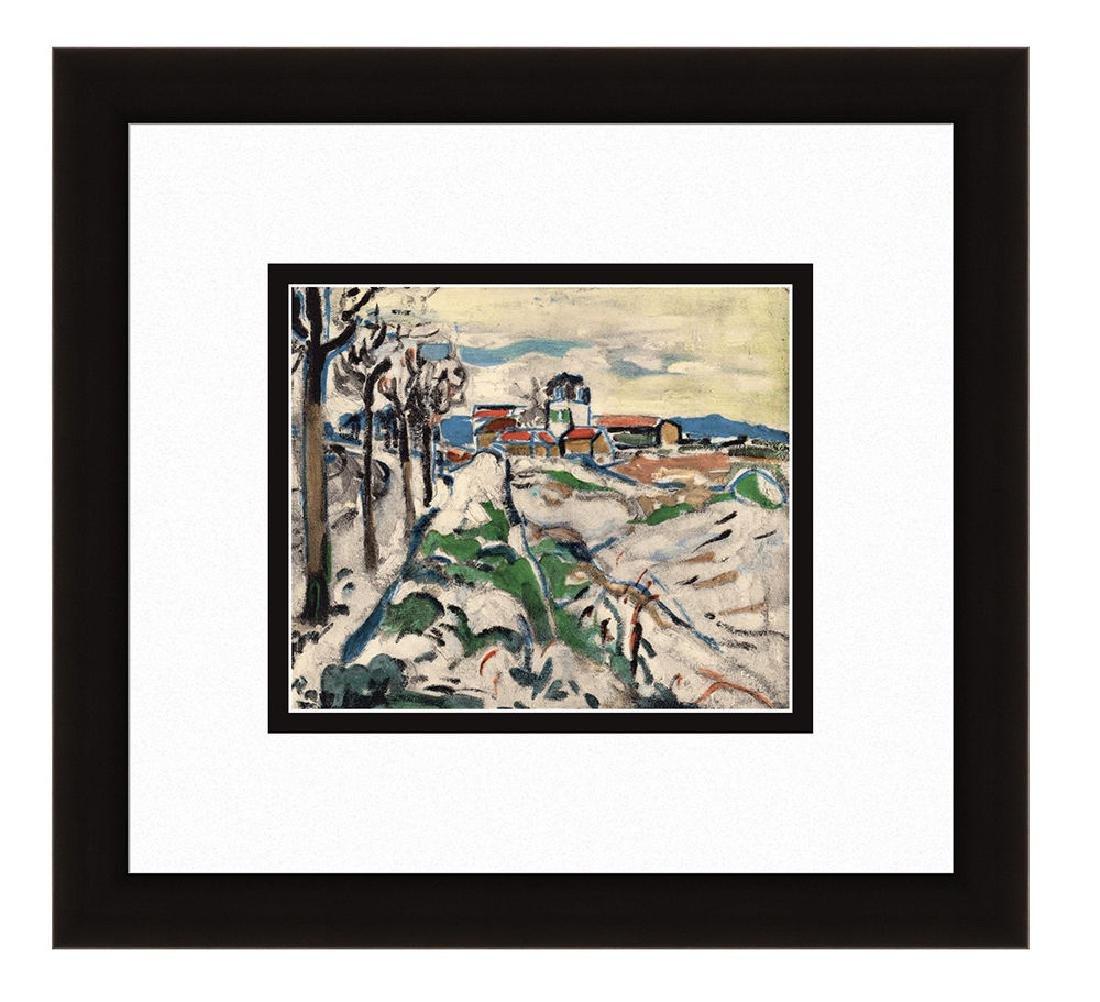 Maurice de Vlaminck Lithograph Framed Les Coteaux de