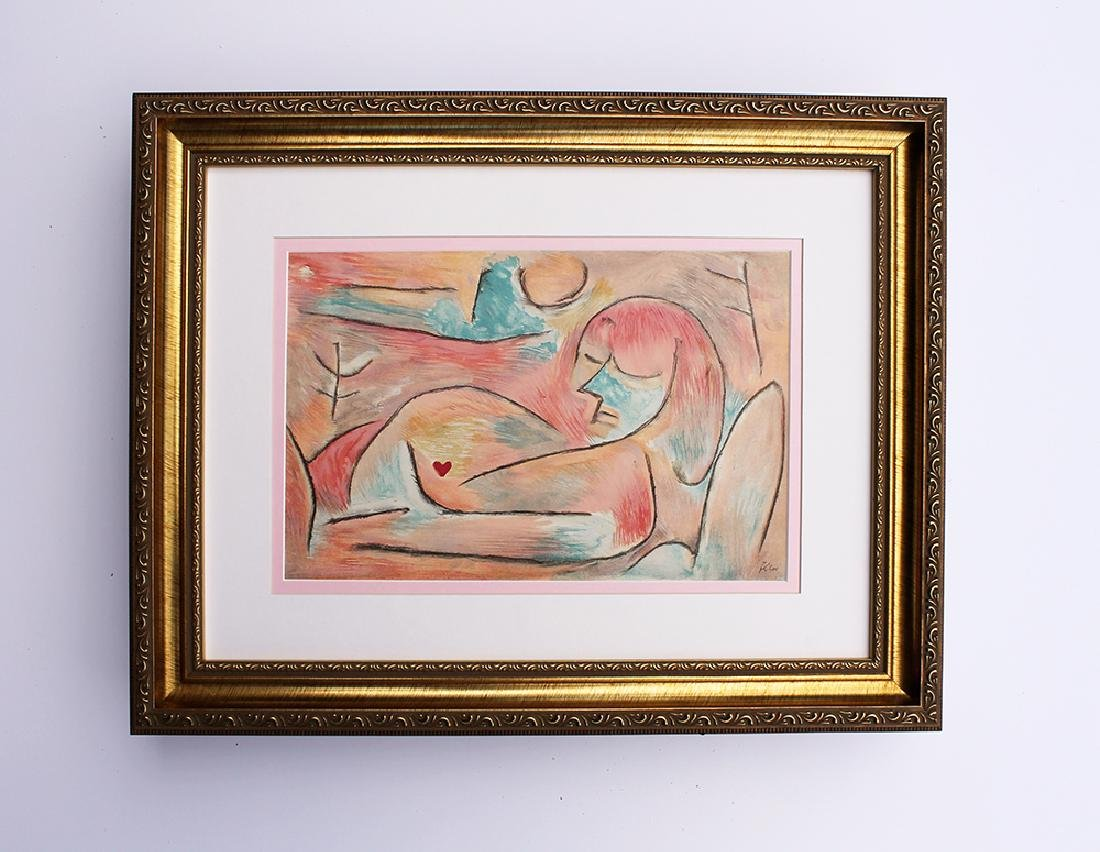 Paul Klee Framed Winter Original 1938 Signed Lithograph