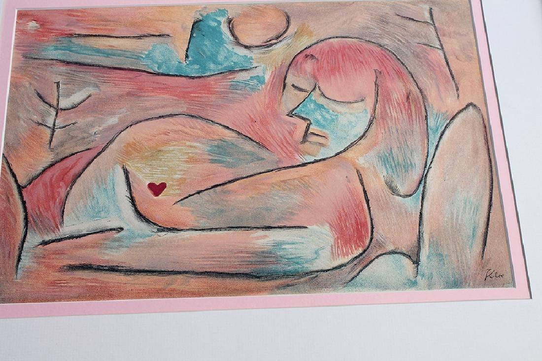 Paul Klee Framed Winter Original 1938 Signed Lithograph - 2