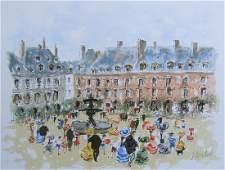 Huchet Place des Vosges Signed Lim. Ed. Large