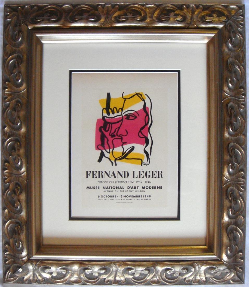 Fernand Leger Musee National d'art Lithograph Framed