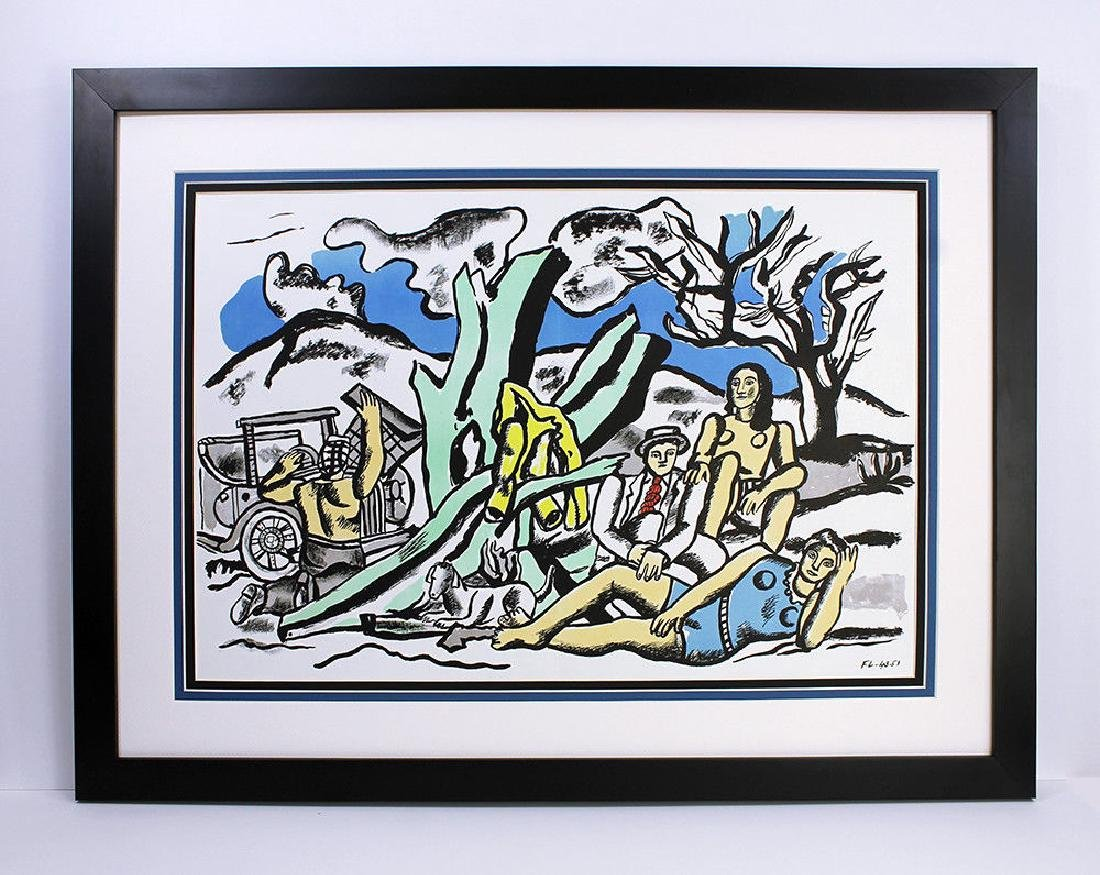 1952 LEGER Limited Color Lithograph Campaign Party