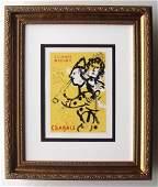 Marc Chagall Framed Mourlot Lithograph