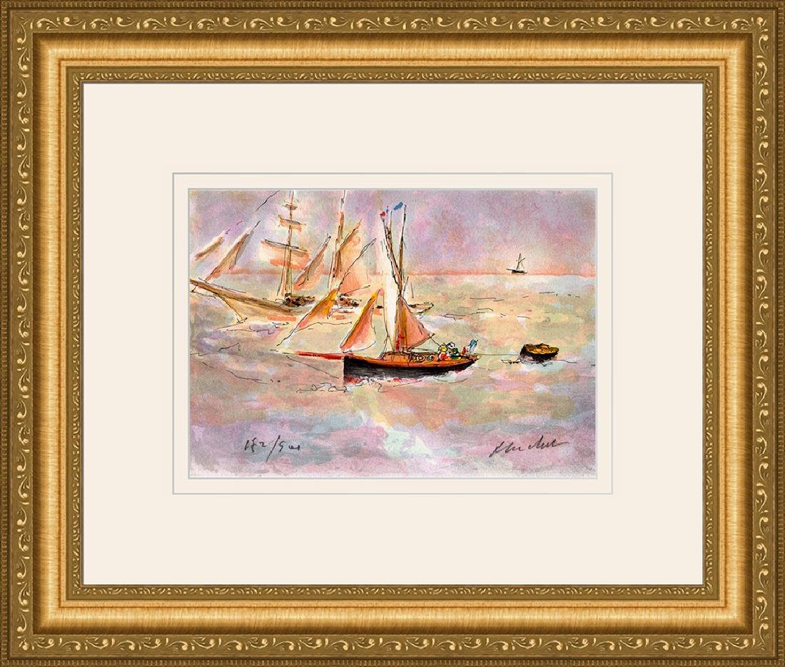 Urbain Huchet Signed Voiliers Framed Limited Edition