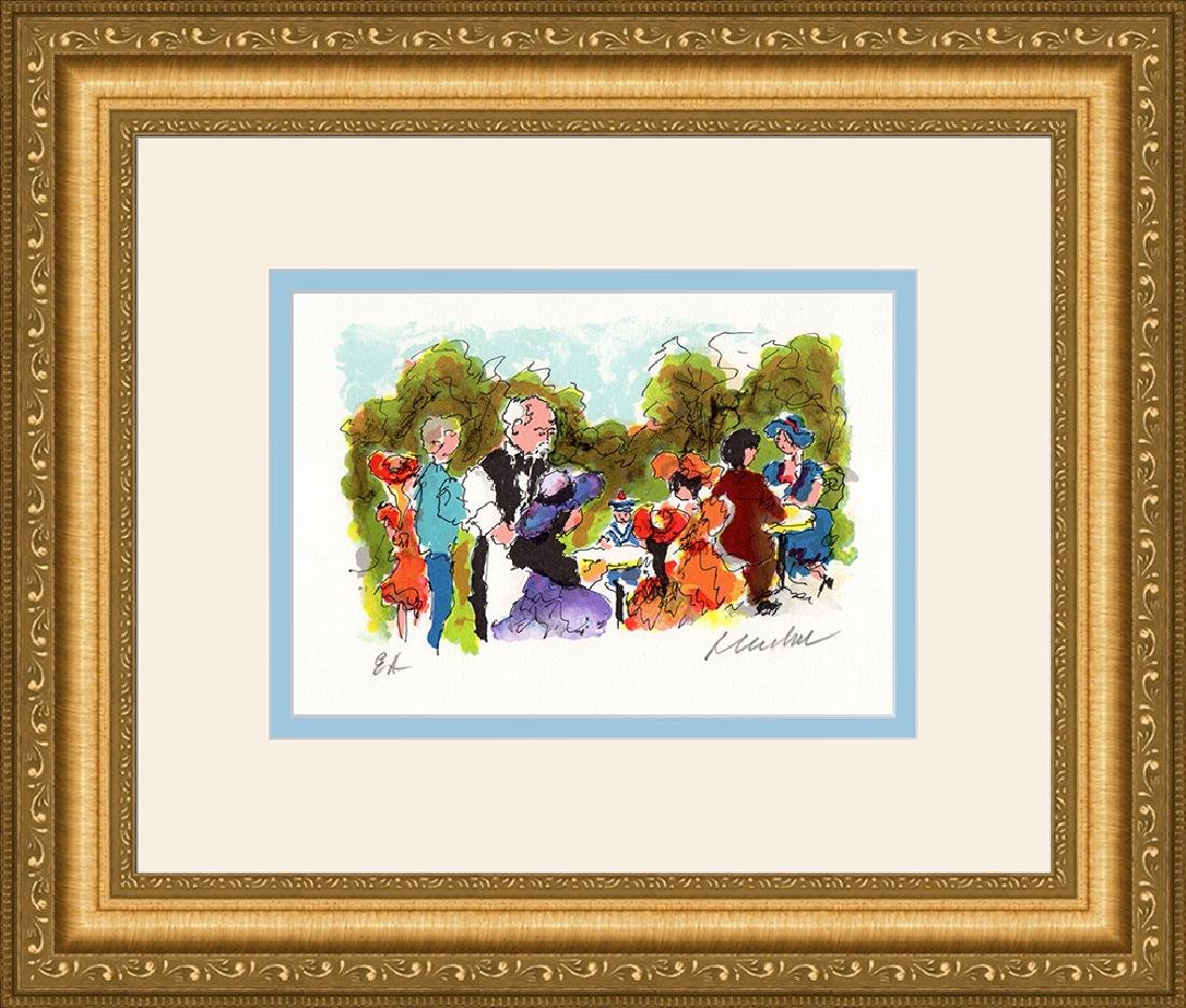 Limited Ed. Signed Huchet Tea dans le Parc Framed