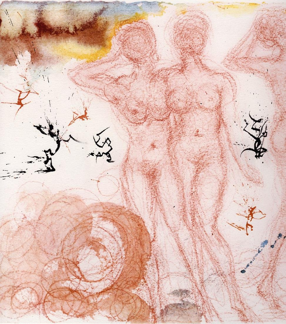 Dali 1967 Original Framed Lithograph Biblia Sacra - 2