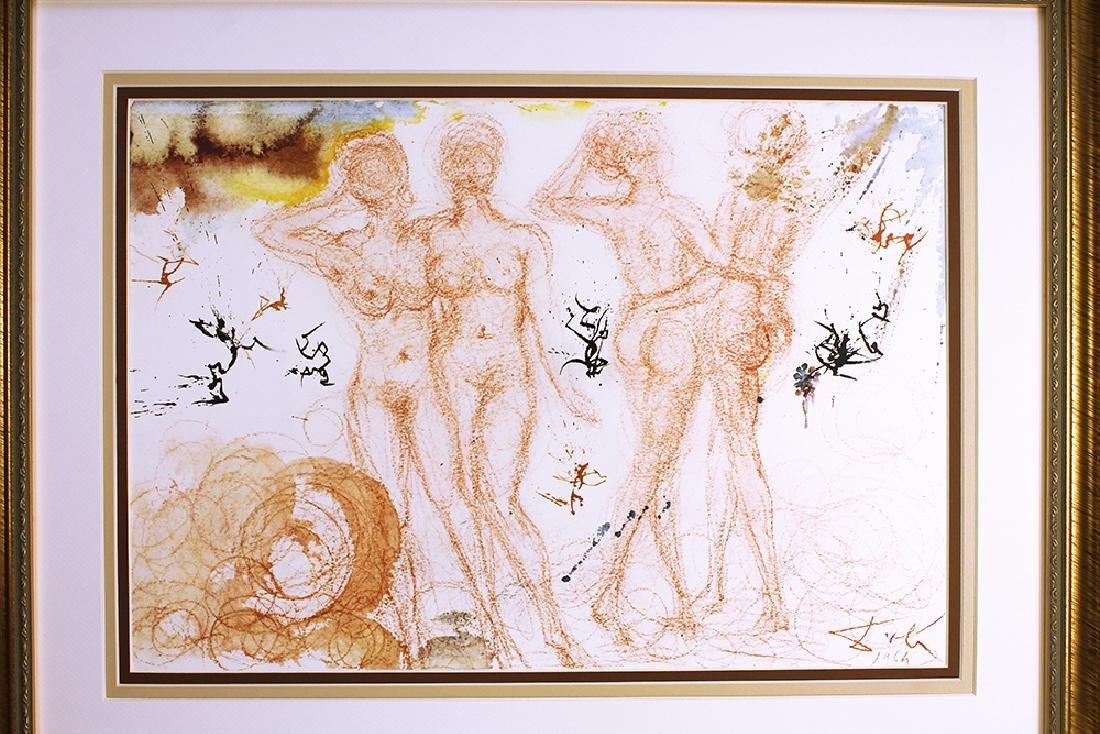 Dali 1967 Original Framed Lithograph Biblia Sacra - 5
