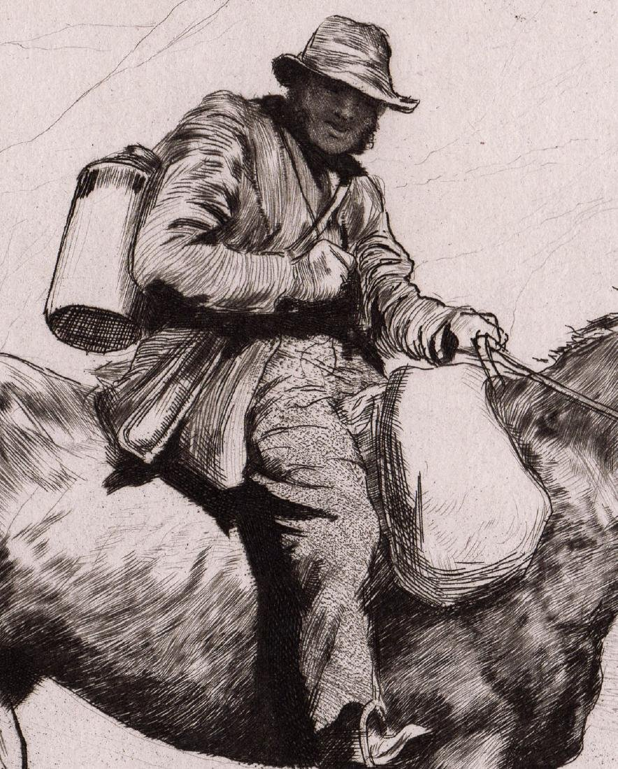 1880 Hubert Herkomer The Messenger Etching - 3