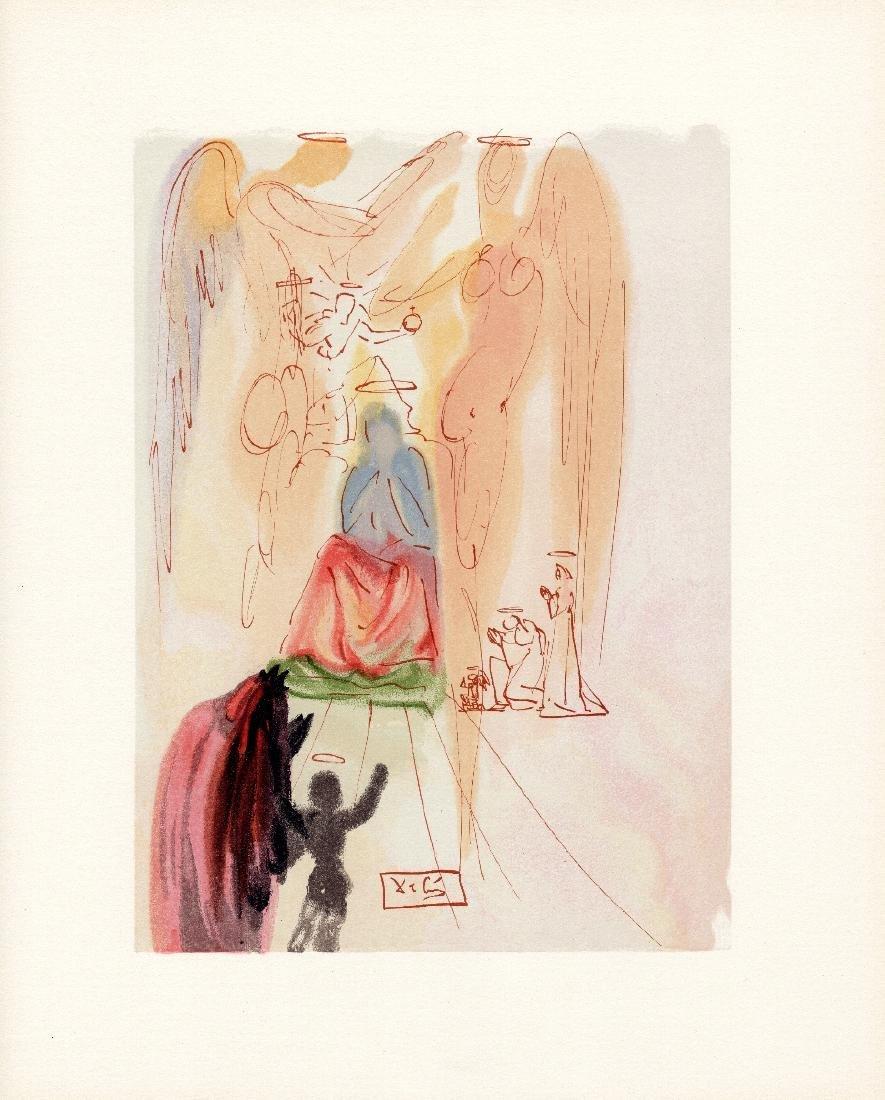 Dali  1960 Woodcut Signed Framed Christ and Virgin - 2