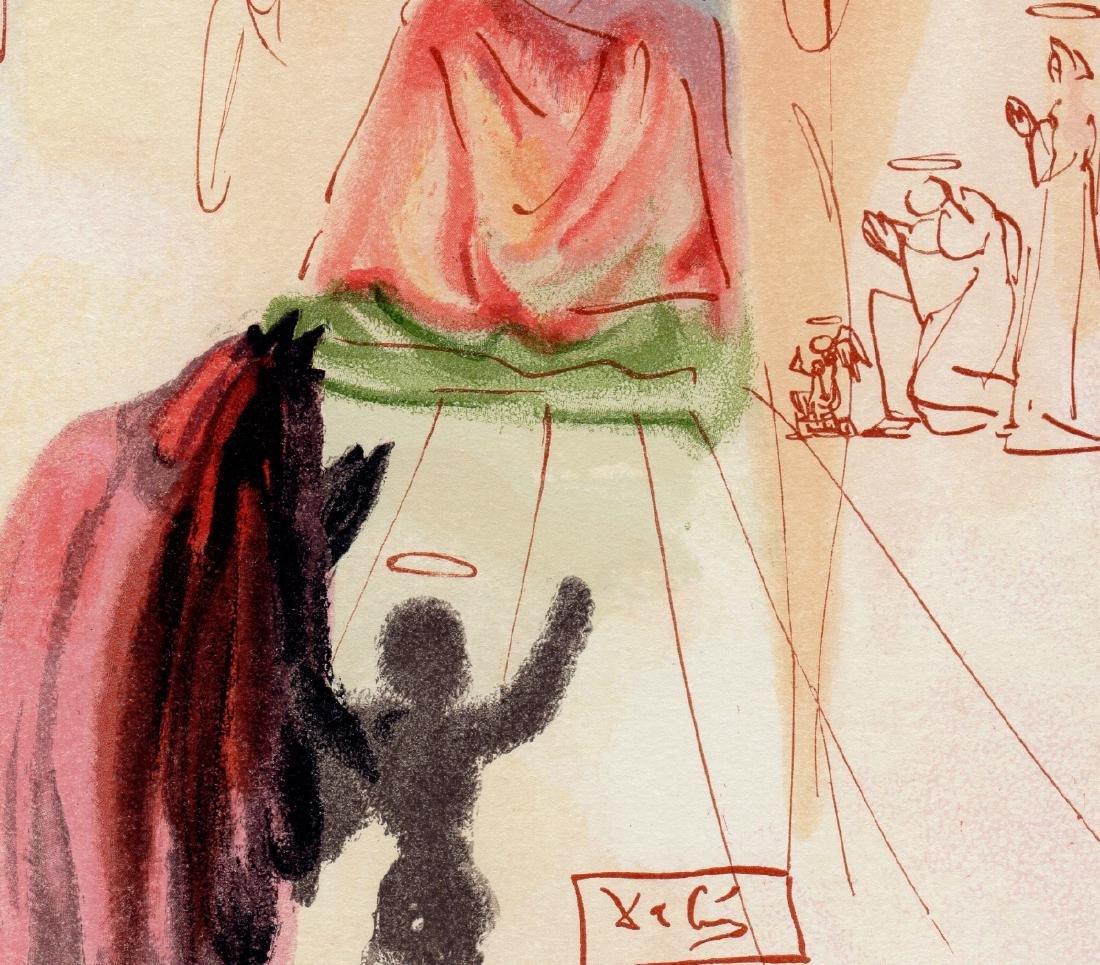 Dali  1960 Woodcut Signed Framed Christ and Virgin - 3
