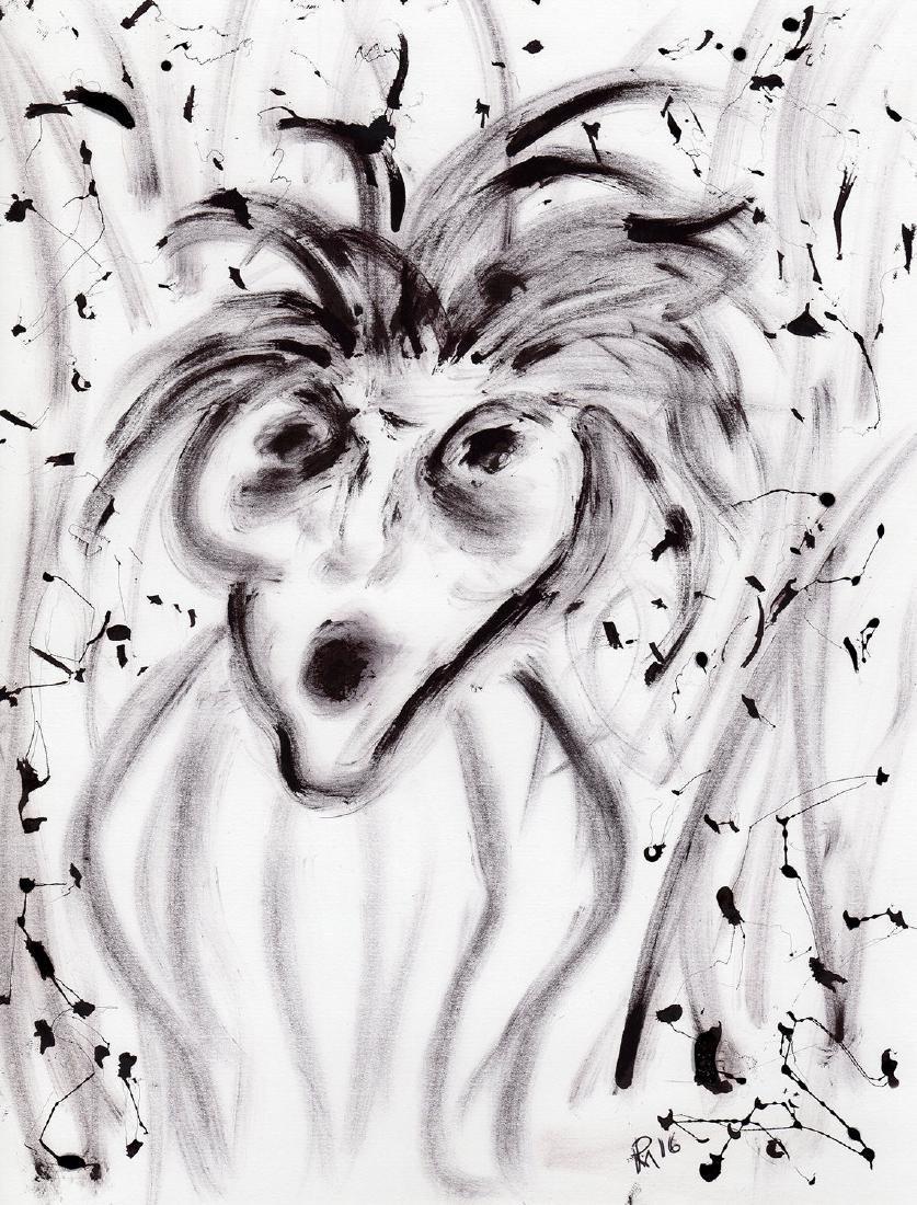 """Patrick Mcdowell """"Disbelief"""" Ink Drawing - 2"""
