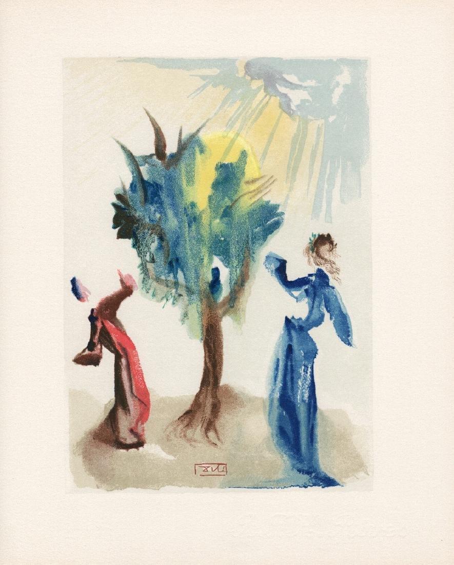 Dali  1960 Woodcut Signed Framed Penitence - 2