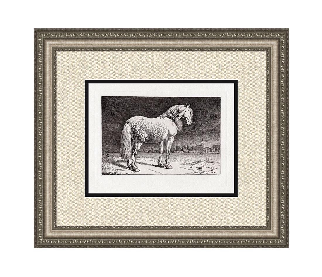 Paul Potter The Friesland Horse Etching Durand