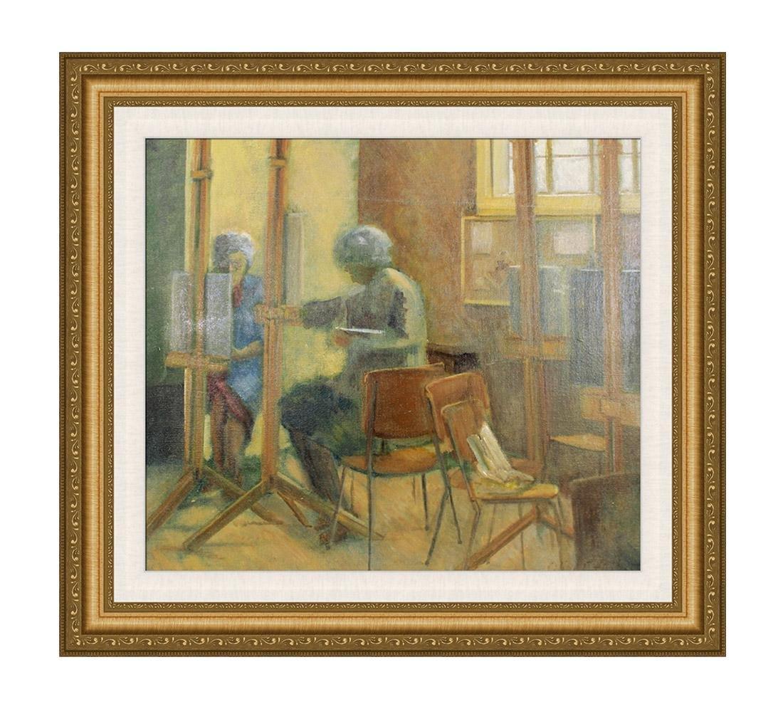 Olive Edenbrow Oil Board The Old Art Studio England
