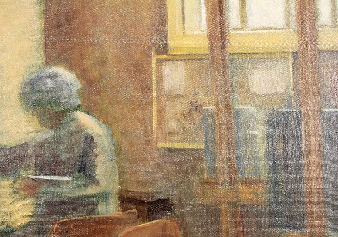 Olive Edenbrow Oil Board The Old Art Studio England - 4