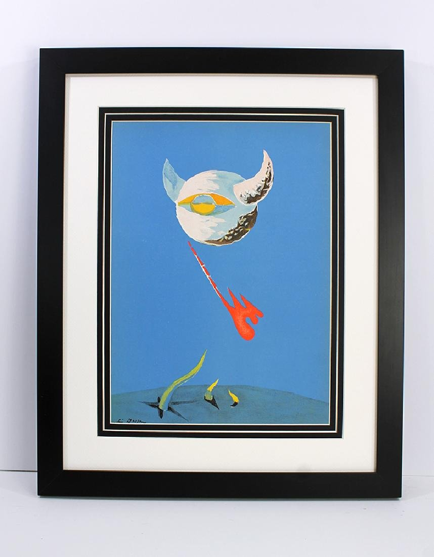 Andre Masson MOON Original 1938 Framed Lithograph