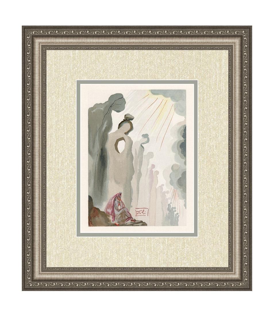 Dali  1960 Woodcut Signed Framed Purgatory
