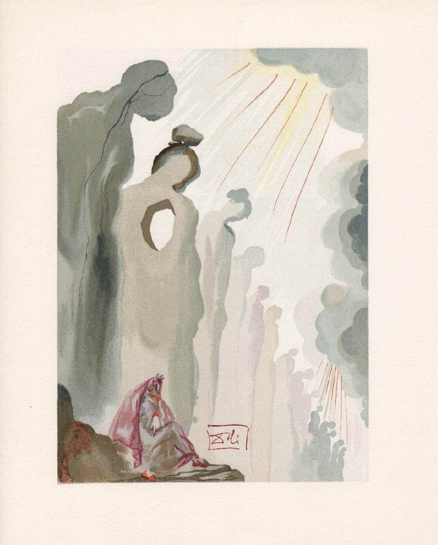 Dali  1960 Woodcut Signed Framed Purgatory - 2