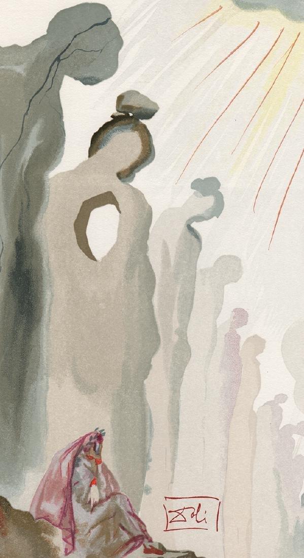 Dali  1960 Woodcut Signed Framed Purgatory - 3