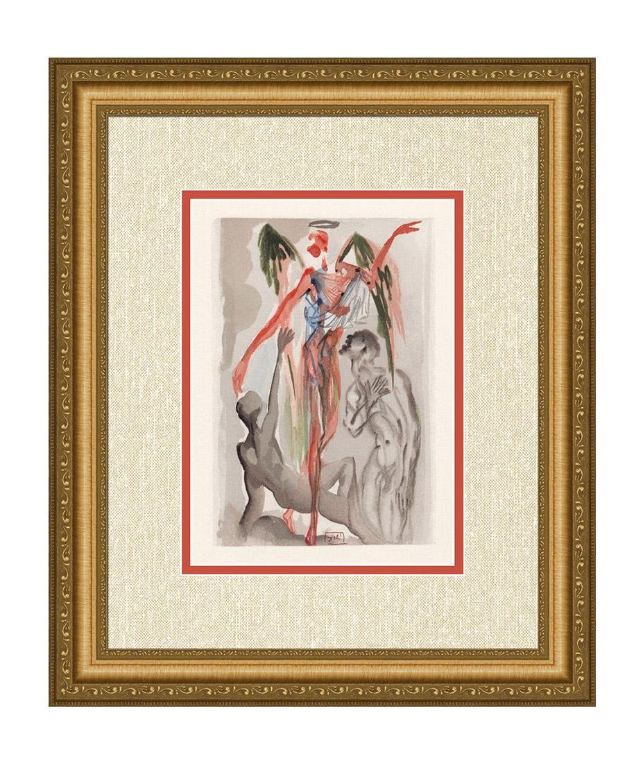 Dali  1960 Woodcut Signed Framed Barthly Paradise