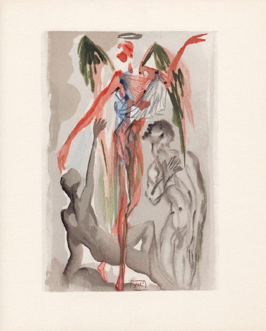 Dali  1960 Woodcut Signed Framed Barthly Paradise - 2