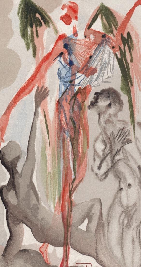Dali  1960 Woodcut Signed Framed Barthly Paradise - 3