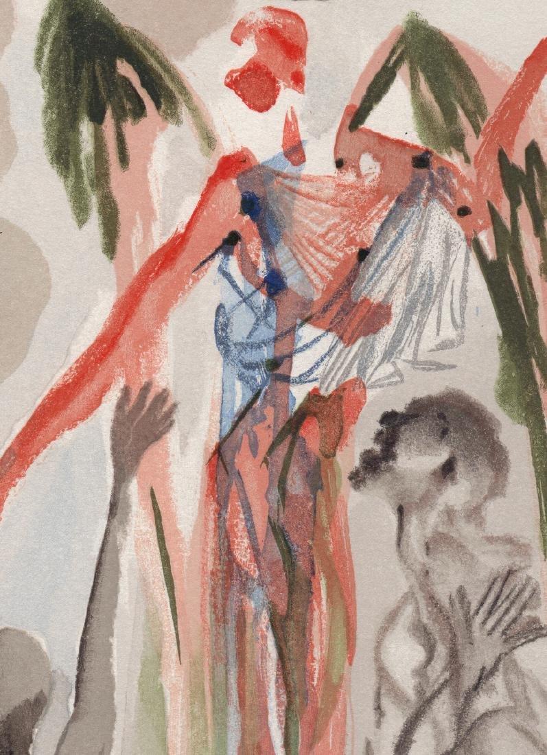 Dali  1960 Woodcut Signed Framed Barthly Paradise - 4