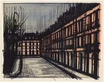 Bernard Buffet Lithograph Framed La Place des Vosges