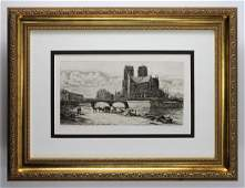 Charles Meryon Apse of Notre Dame 1883 Etching