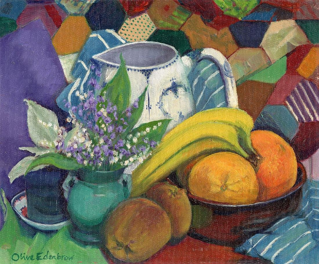 Olive Edenbrow Still Life with Oranges Oil Painting