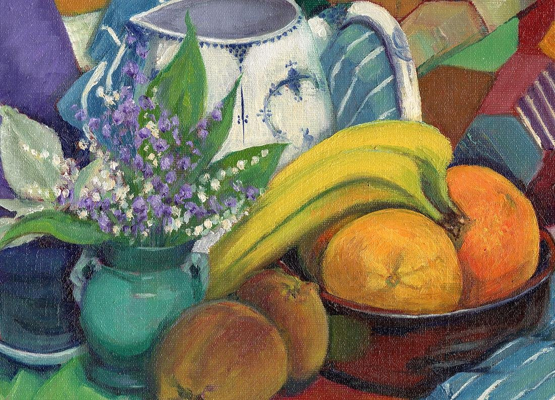 Olive Edenbrow Still Life with Oranges Oil Painting - 2