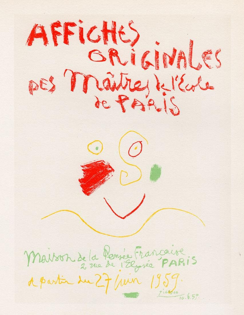 Pablo Picasso Affiches Originales framed lithograph - 2