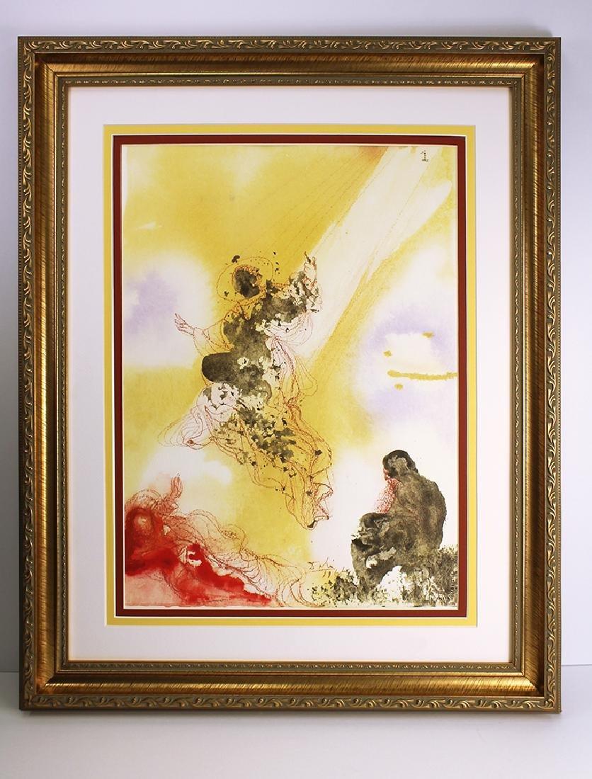 Dali Original Archangel Rapael 1967 Lithograph Framed