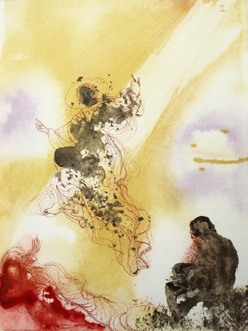 Dali Original Archangel Rapael 1967 Lithograph Framed - 4