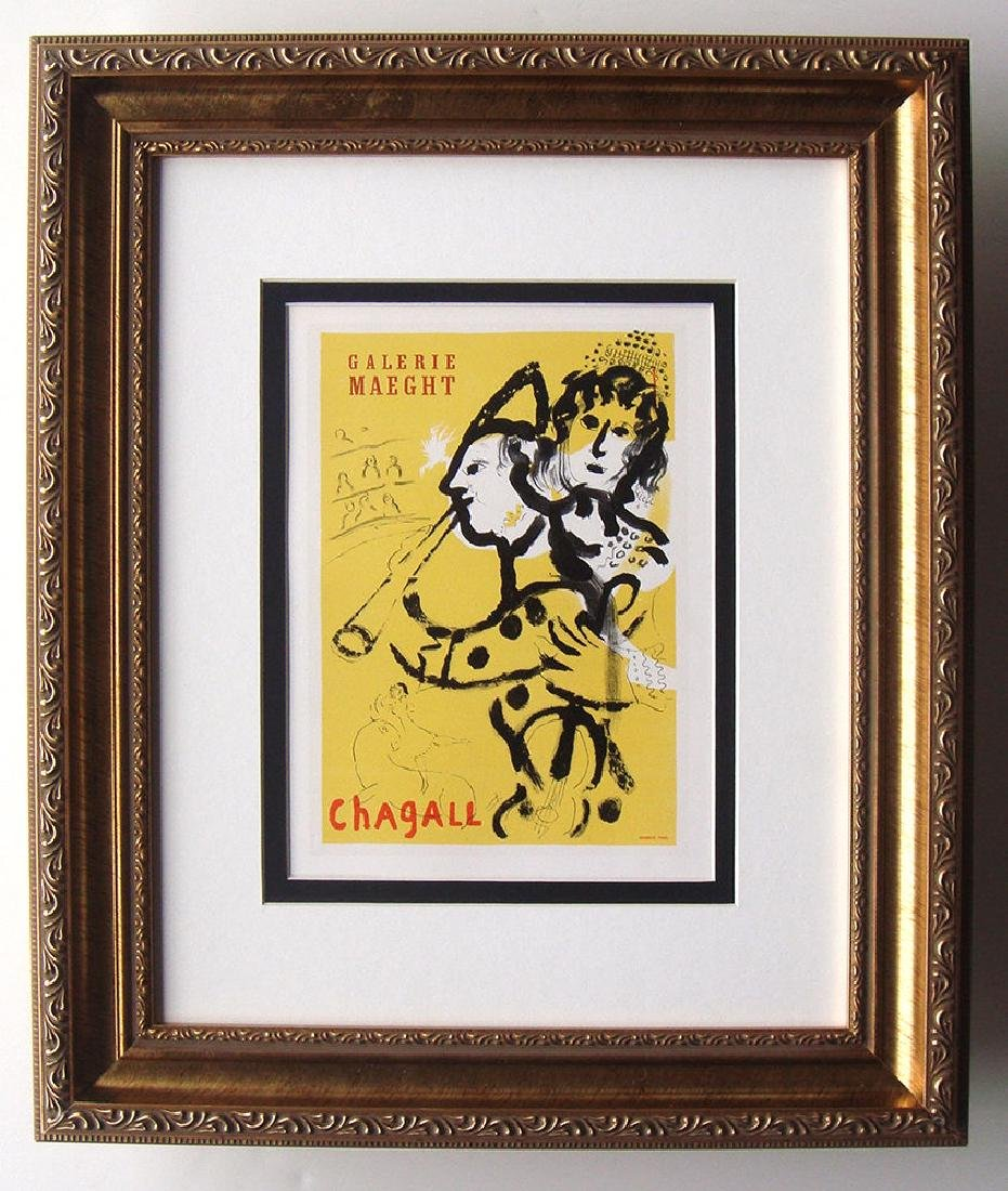 Marc Chagall at Maeght Gallery framed lithograph