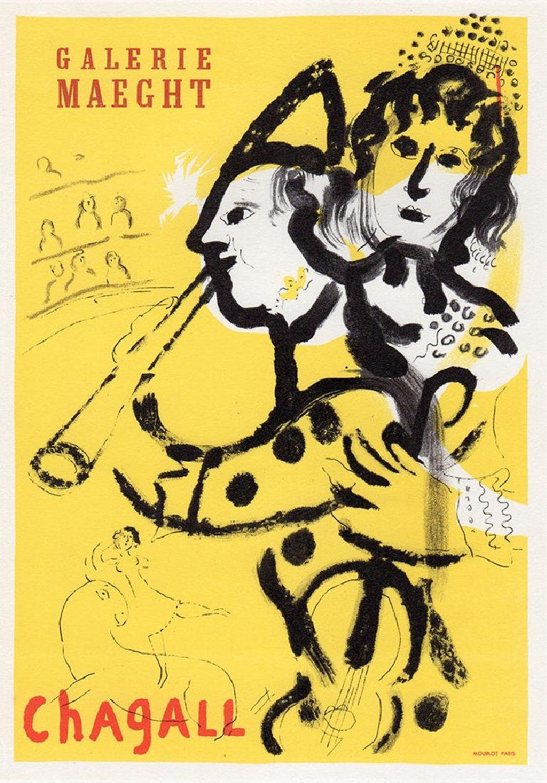Marc Chagall at Maeght Gallery framed lithograph - 2