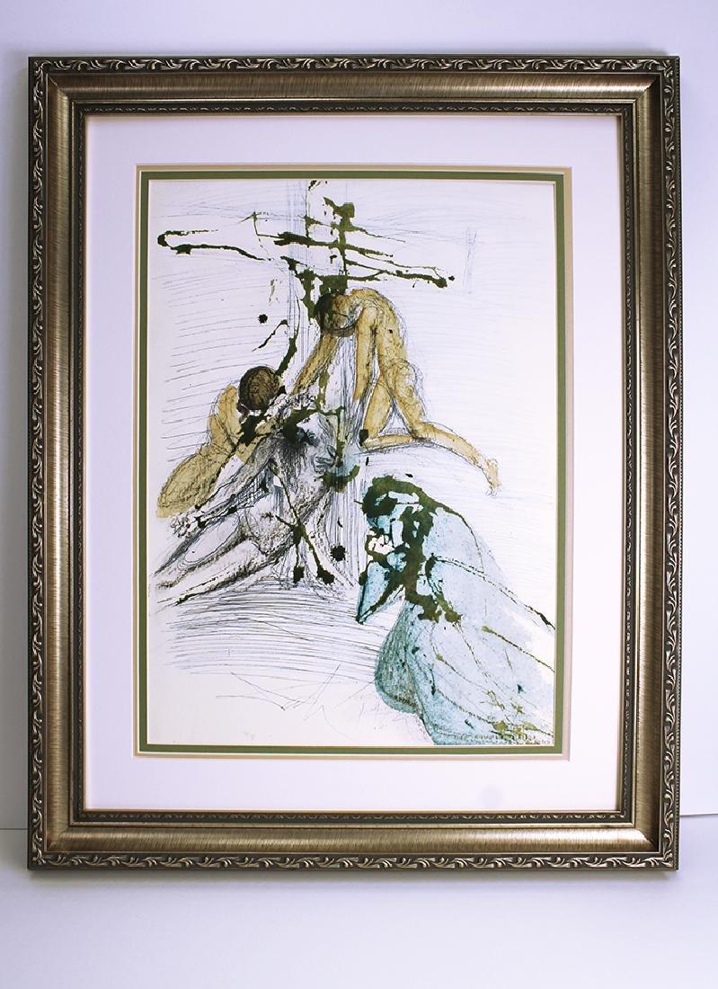 Salvador Dali 1967 Original Descent Cross Lithograph