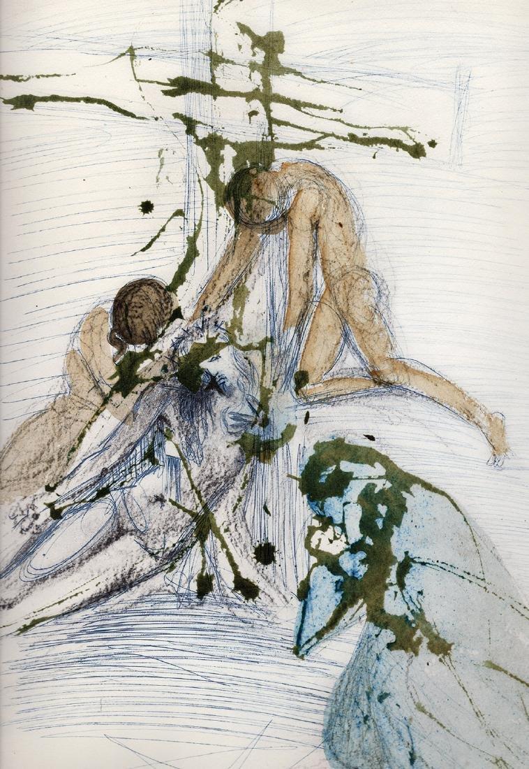 Salvador Dali 1967 Original Descent Cross Lithograph - 2