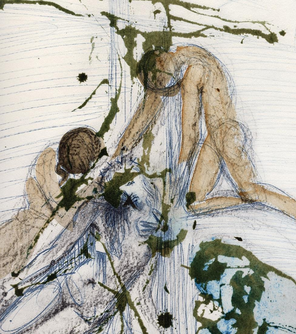 Salvador Dali 1967 Original Descent Cross Lithograph - 3