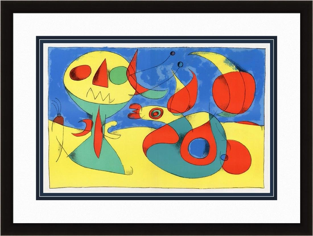 1956 Joan Miro Original Lithograph M227 Zephyr Bird